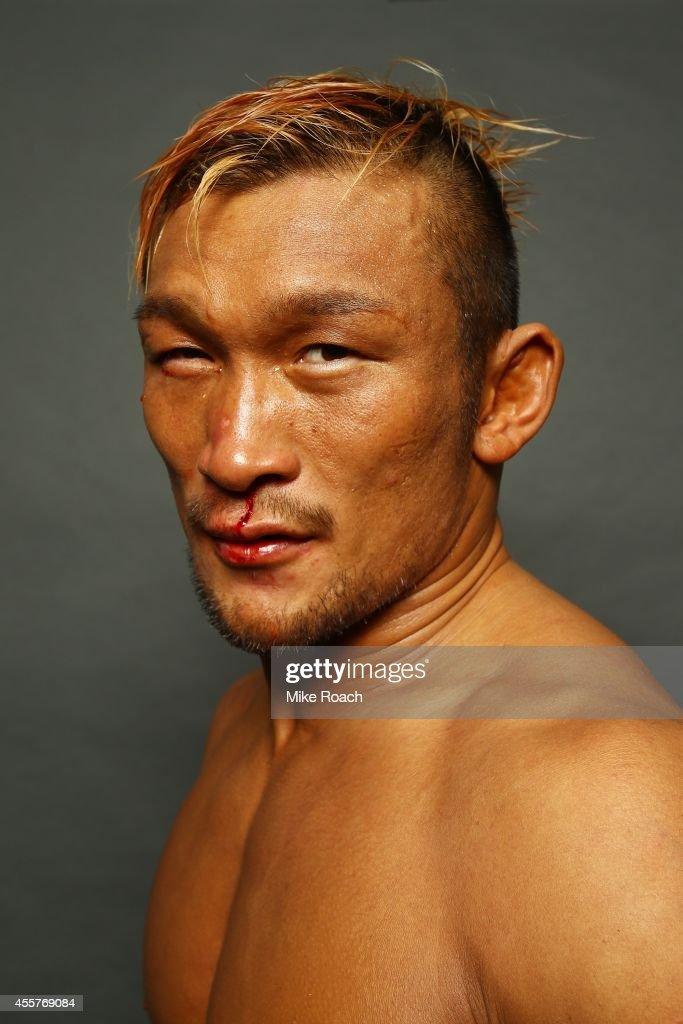 Kiichi Kunimoto poses for a photo backstage during the UFC Fight Night event inside the Saitama Arena on September 20, 2014 in Saitama, Japan.