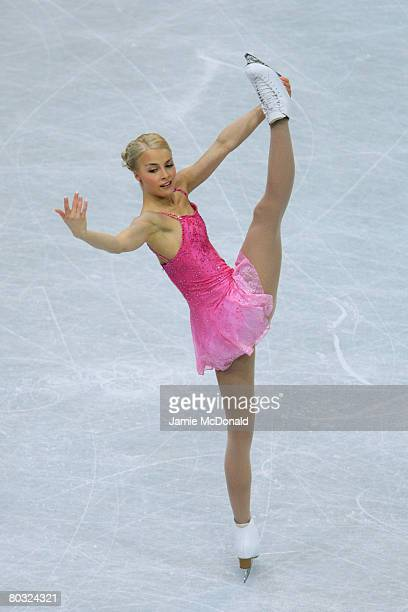 Kiira Korpi of Finland in action during her Free Skate during the ISU World Figure Skating Championships at the Scandinavium Arena on March 20 2008...
