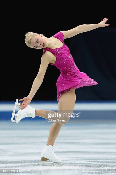 Kiira Korpi of Finland performs in the Ladies Free Skating during the Grand Prix of Figure Skating Final 2012 at the Iceberg Skating Palace on...