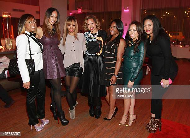 Kijafa Vick Alexis Stoudemire Terricka Cromartie Amber Sabathia CeCe Chung Carlyne Williams and Trier Young attend the NBA NFL Wives Holiday Cocktail...