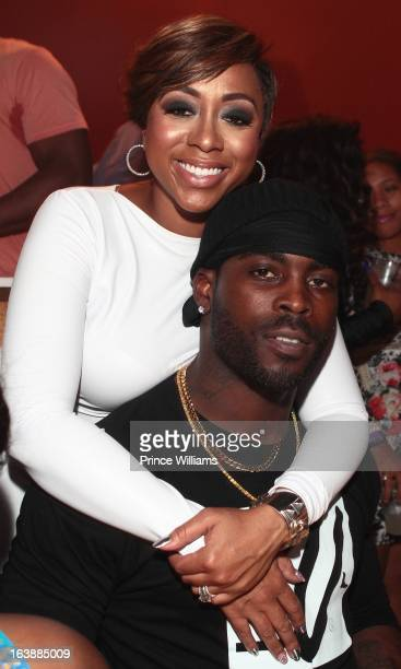Kijafa Vick and Michael Vick attend Finally Free Book Launch Party at Mansion Elan on March 16 2013 in Atlanta Georgia