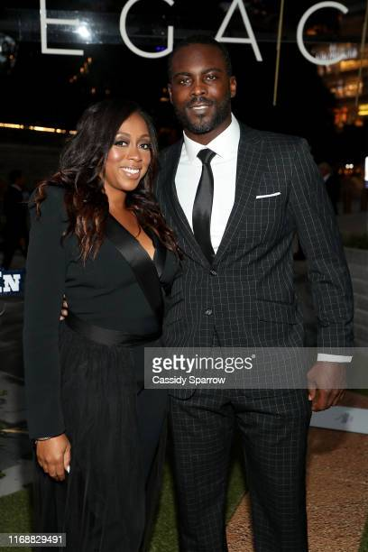 Kijafa Vick and Michael Vick attend The LegaCCy Gala at The Shed on September 16 2019 in New York City