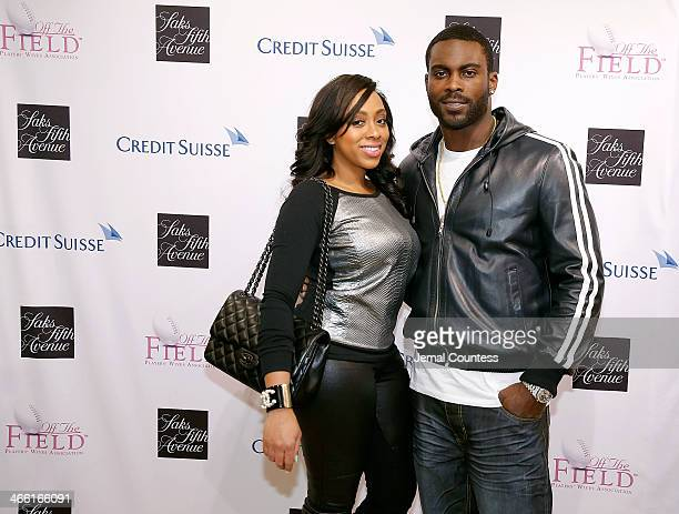 Kijafa Vick and NFL Player Michael Vick attend the Saks Fifth Avenue And Off The Field Players' Wives Association Charitable Fashion Show on January...