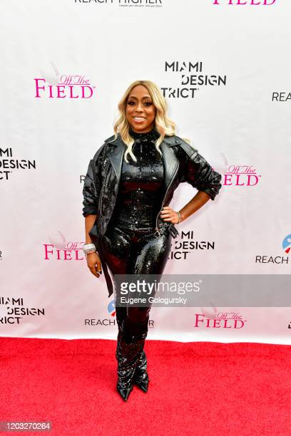 Kijafa Vick attends the 2020 Off the Field Player's Wives Fashion Show at Miami Design District on January 31 2020 in Miami Florida