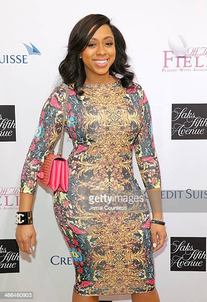 Kijafa Vick attends the Saks Fifth Avenue And Off The Field Players' Wives Association Charitable Fashion Show on January 31 2014 in New York City