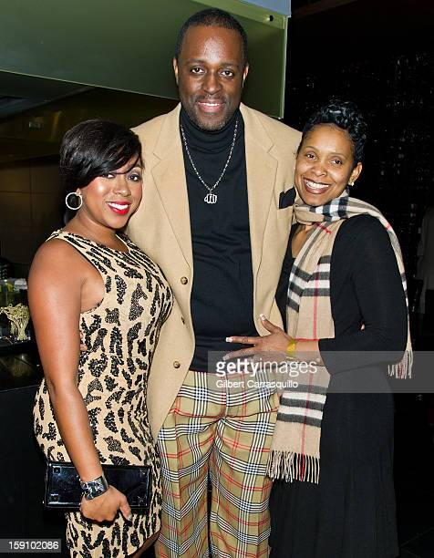 Kijafa Vick Charlie Mack Alston and wife Tasha Mack Alston attend An Evening With 7 at 7 On the 7th at on January 7 2013 in Philadelphia City