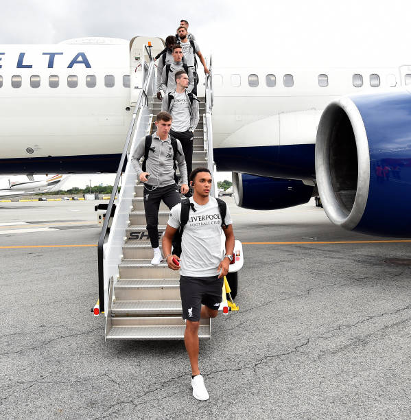 NY: Liverpool FC Arrive In New York
