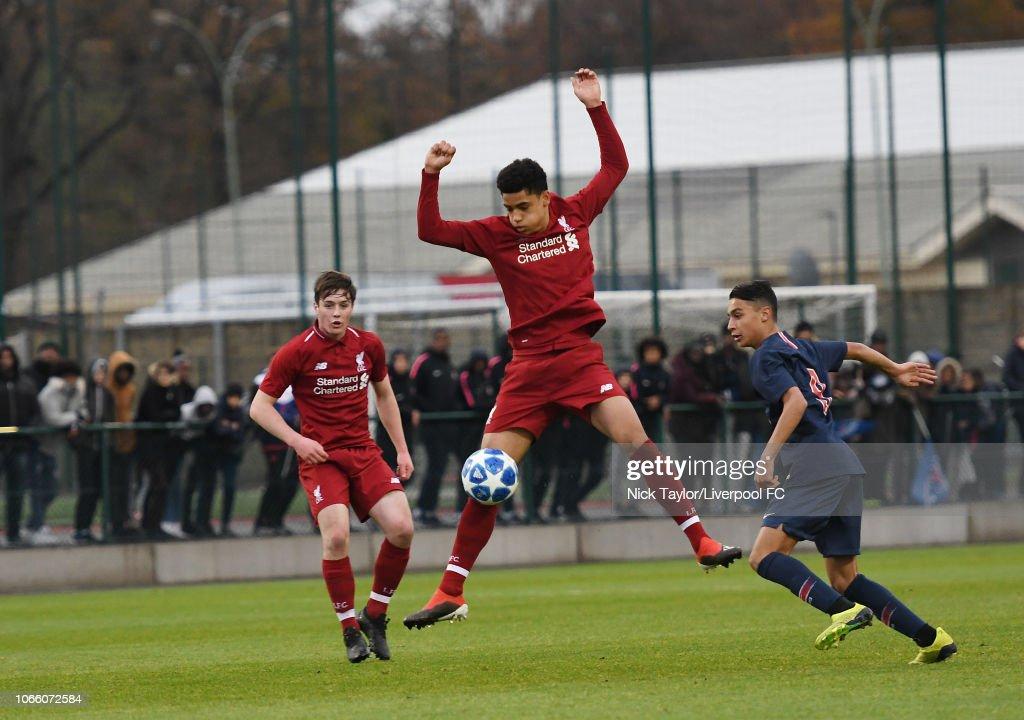 Paris Saint-Germain U19 v Liverpool U19 - UEFA Youth League : News Photo