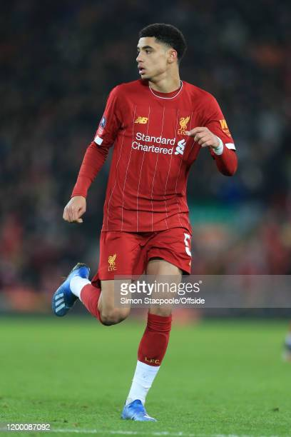 KiJana Hoever of Liverpool looks on during the FA Cup Fourth Round Replay match between Liverpool and Shrewsbury Town at Anfield on February 4 2020...