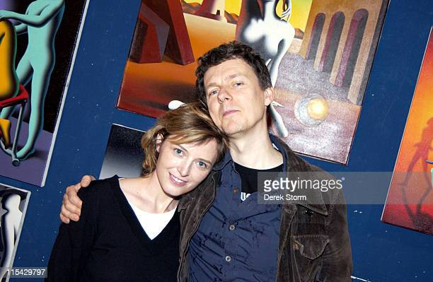 Kika Karadi and Michel Gondry during Mark Kostabi on Location for Name That Painting at Kostabi World in SOHO May 26 2006 at Kostabi World in New...