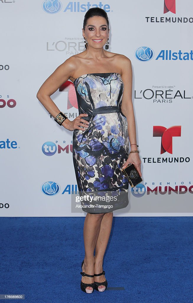 Kika Rocha attends Telemundo's Premios Tu Mundo Awards at American Airlines Arena on August 15, 2013 in Miami, Florida.