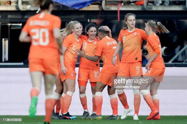 Kika van Es of Holland Women Danielle van de Donk of Holland Women Shanice van de Sanden of Holland Women Vivianne Miedema of Holland Women Jackie...