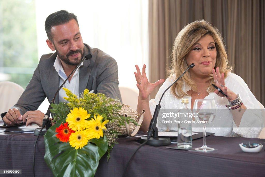 Kike Calleja and Terelu Campos attend the presentation of the new book 'Frente Al Espejo' on July 17, 2017 in Malaga, Spain.
