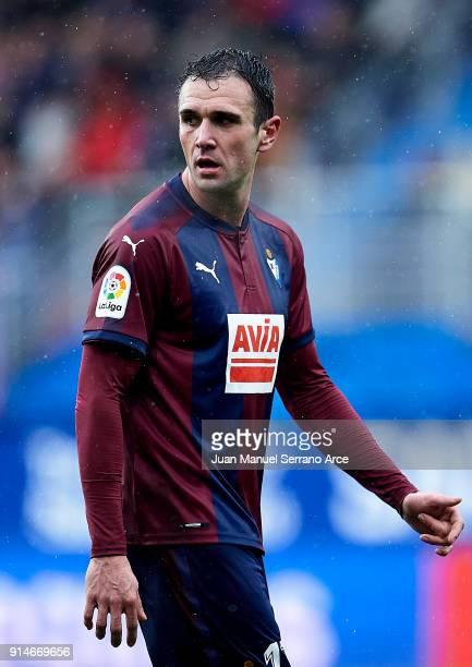 Kike Garcia of SD Eibar reacts during the La Liga match between SD Eibar and Sevilla FC at Ipurua Municipal Stadium on February 3 2018 in Eibar Spain