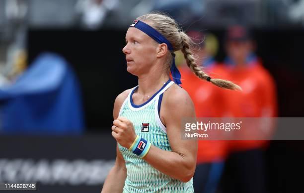 Kiki Bertens celebrates during the WTA Internazionali d'Italia BNL semfinal match at Foro Italico in Rome Italy on May 18 2019