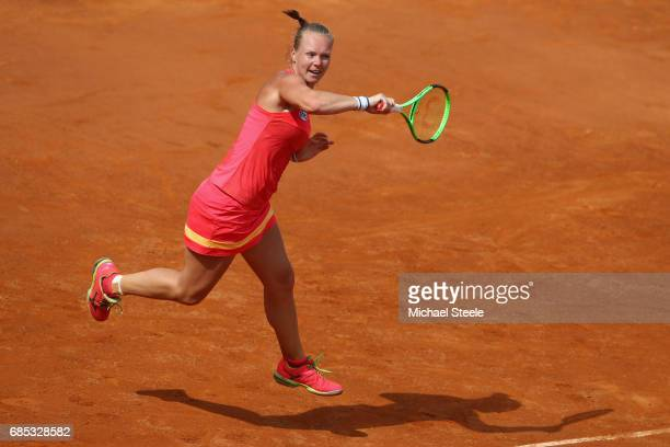 Kiki Bertens of Netherlands in action during the women's quarterfinal match against Daria Gavrilova of Australia on Day Six of the Internazionali BNL...
