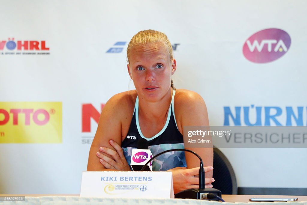 Kiki Bertens of Netherlands on day eight of the Nuernberger Versicherungscup 2016 on May 21, 2016 in Nuremberg, Germany.