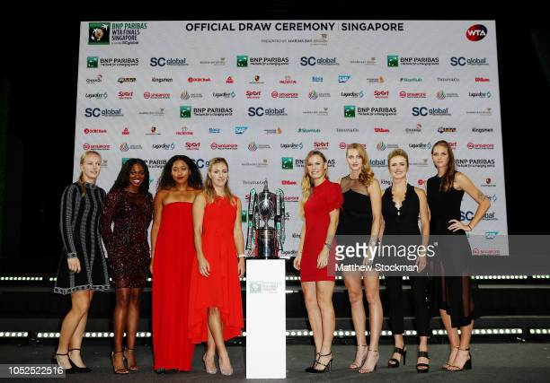 Kiki Bertens of the Netherlands Sloane Stephens of the United States Naomi Osaka of Japan Angelique Kerber of Germany Caroline Wozniacki of Denmark...