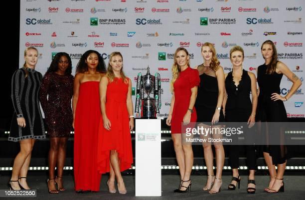 Kiki Bertens of the Netherlands Sloane Stephens of the United States Naomi Osaka of Japan Angelique Kerber of Germany Caroline Wozniacki of Denmark...