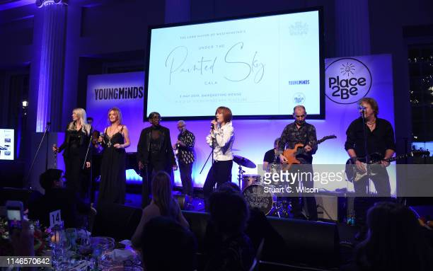 Kiki Dee and her band perform during The Lord Mayor of Westminster's 'Under the Painted Sky' Gala at Banqueting House on May 02 2019 in London England