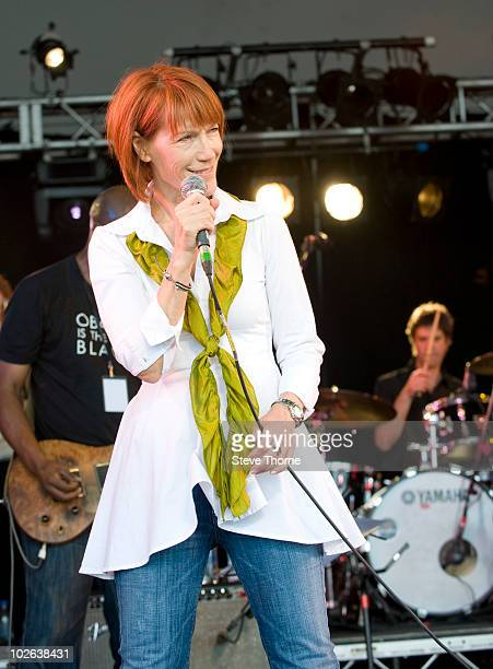 Kiki Dee performs during the first day of Cornbury Festival at Cornbury Park on July 3 2010 in Oxford England
