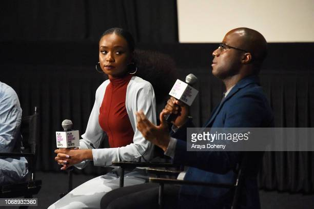 KiKi Layne and Barry Jenkins attend the Film Independent Special Screening of 'If Beale Street Could Talk' at ArcLight Hollywood on December 5 2018...