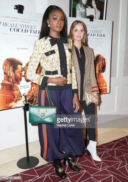 KiKi Layne and Debby Ryan attend a screening of 'If Beale Street Could Talk' at The London Hotel on January 08 2019 in West Hollywood California