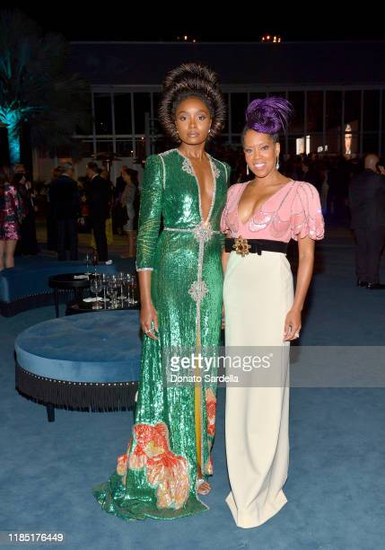 Kiki Layne and Regina King both wearing Gucci attend the 2019 LACMA Art Film Gala Presented By Gucci at LACMA on November 02 2019 in Los Angeles...