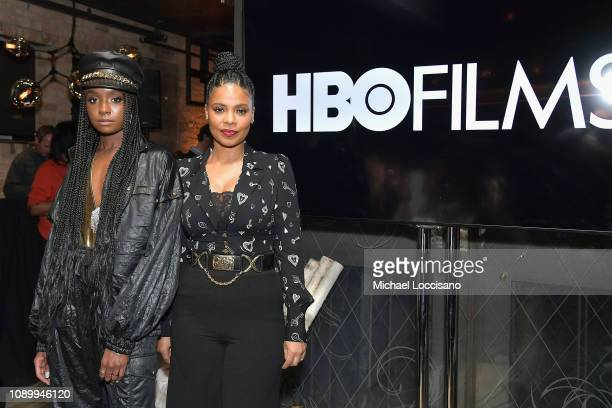 Kiki Layne and Sanaa Lathan attend the HBO Film Native Son Dinner At Sundance 2019 at Tupelo on January 26 2019 in Park City Utah