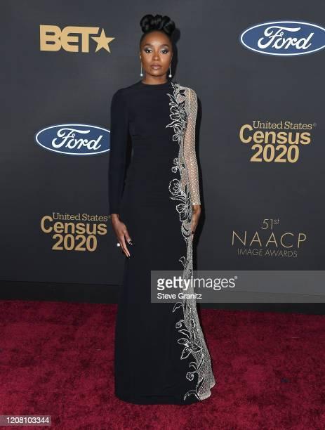 Kiki Layne arrives at the 51st NAACP Image Awards on February 22, 2020 in Pasadena, California.