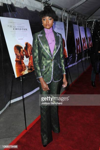 KiKi Layne arrives at the Los Angeles Special Screening of Annapurna's If Beale Street Could Talk on December 4 2018 in Los Angeles California