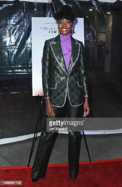 """KiKi Layne arrives at the Los Angeles Special Screening Of """"If Beale Street Could Talk"""" at ArcLight Hollywood on December 4, 2018 in Hollywood,..."""