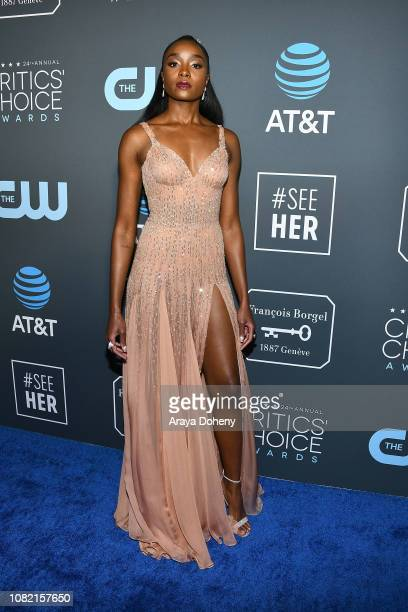 Kiki Layne at Claire Foy Accepts The #SeeHer Award At The 24th Annual Critics' Choice Awards The Barker Hanger on January 13 2019 in Santa Monica...