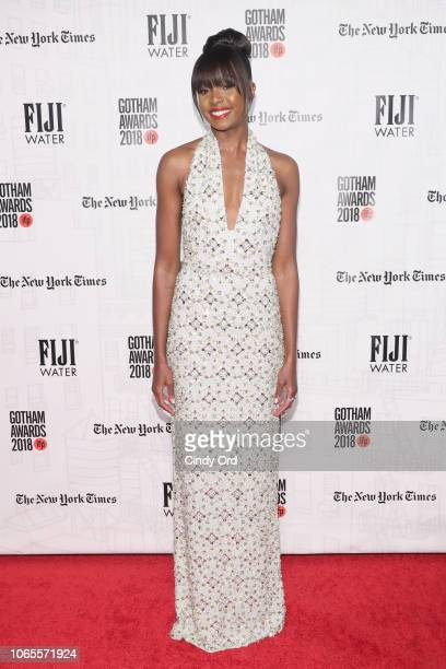 KiKI Layne attend the 2018 IFP Gotham Awards with FIJI Water at Cipriani Wall Street on November 26 2018 in New York City