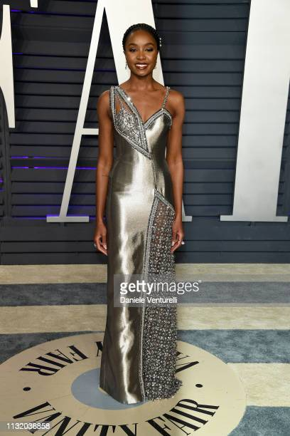 Kiki Layne attends 2019 Vanity Fair Oscar Party Hosted By Radhika Jones Arrivals at Wallis Annenberg Center for the Performing Arts on February 24...