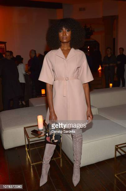 Kiki Layne attends a private dinner hosted by GQ and Dior in celebration of the 2018 GQ Men Of The Year Party on December 06, 2018 in Los Angeles,...