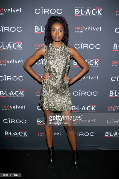KiKi Layne attends Stephan James And Shamier Anderson Host Third Annual BLACK Ball at TIFF Bell Lightbox on September 10 2018 in Toronto Canada