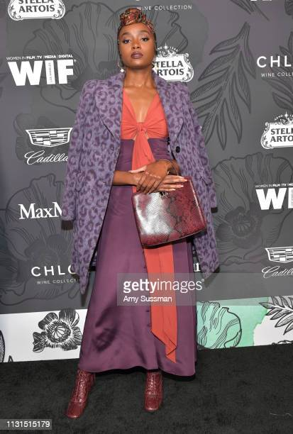 Kiki Layne attends the 12th Annual Women In Film Oscar Party at Spring Place on February 22, 2019 in Beverly Hills, California.