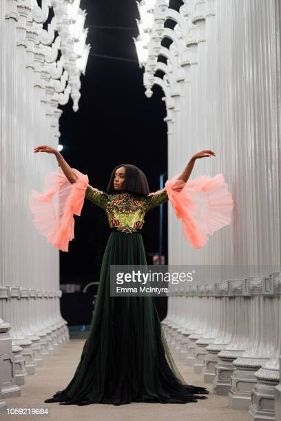 Kiki Layne attends the 2018 LACMA Art Film Gala honoring Catherine Opie and Guillermo del Toro presented by Gucci at LACMA on November 3 2018 in Los...