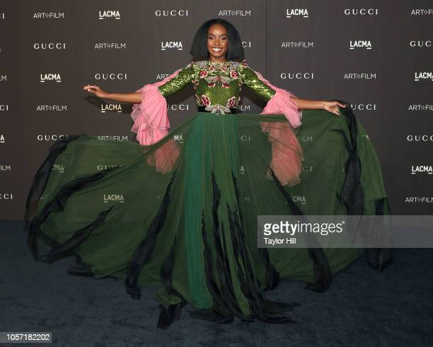 Kiki Layne attends the 2018 LACMA ArtFilm Gala at LACMA on November 3 2018 in Los Angeles California