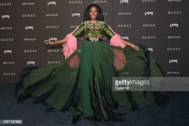 Kiki Layne attends the 2018 LACMA ArtFilm Gala at LACMA on November 3 2018 in Los Angeles California
