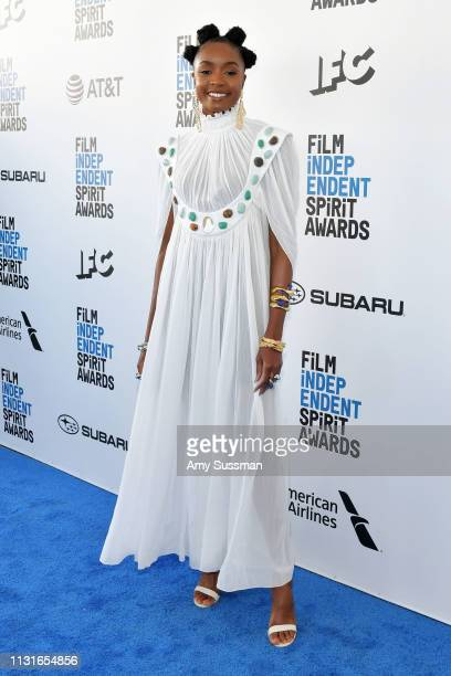 Kiki Layne attends the 2019 Film Independent Spirit Awards on February 23 2019 in Santa Monica California