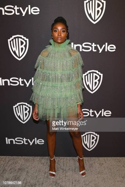 Kiki Layne attends the 2019 InStyle and Warner Bros 76th Annual Golden Globe Awards PostParty at The Beverly Hilton Hotel on January 6 2019 in...