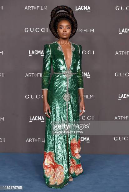KiKi Layne attends the 2019 LACMA Art + Film Gala Presented By Gucci on November 02, 2019 in Los Angeles, California.