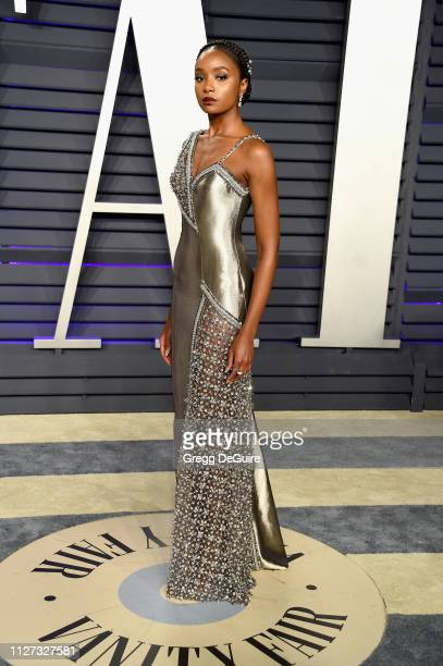 Kiki Layne attends the 2019 Vanity Fair Oscar Party hosted by Radhika Jones at Wallis Annenberg Center for the Performing Arts on February 24, 2019...