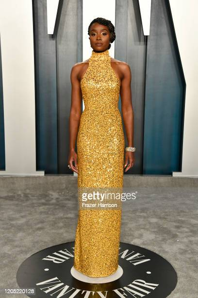 Kiki Layne attends the 2020 Vanity Fair Oscar Party hosted by Radhika Jones at Wallis Annenberg Center for the Performing Arts on February 09, 2020...
