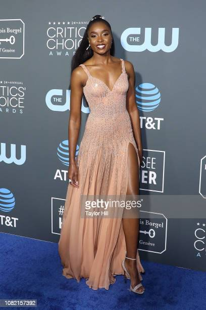 KiKi Layne attends The 24th Annual Critics' Choice Awards at Barker Hangar on January 13 2019 in Santa Monica California