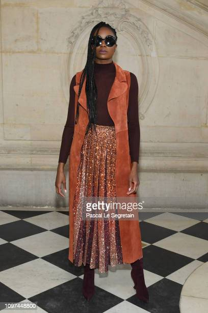 Kiki Layne attends the Christian Dior Haute Couture Spring Summer 2019 show as part of Paris Fashion Week on January 21, 2019 in Paris, France.