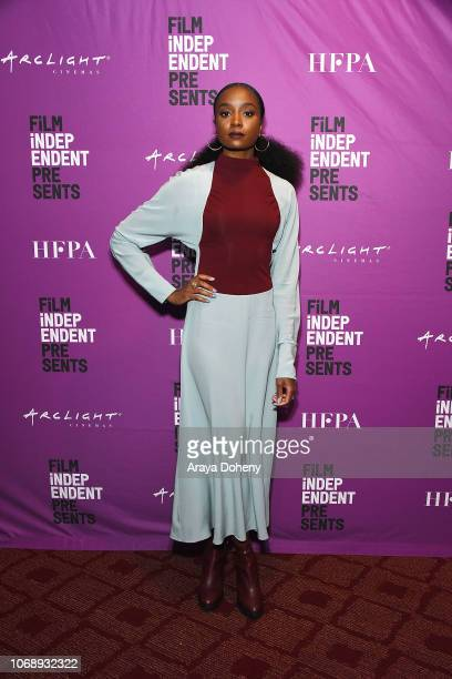 """KiKi Layne attends the Film Independent Special Screening of """"If Beale Street Could Talk"""" at ArcLight Hollywood on December 5, 2018 in Hollywood,..."""