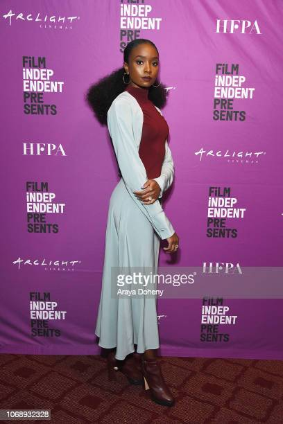 KiKi Layne attends the Film Independent Special Screening of 'If Beale Street Could Talk' at ArcLight Hollywood on December 5 2018 in Hollywood...